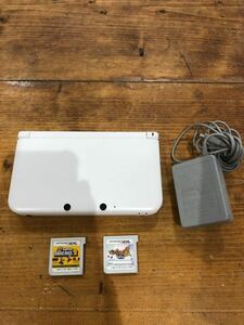 3DSLL ニンテンドー3DS LL 充電器 ホワイト 白 ソフト付き マリオセット