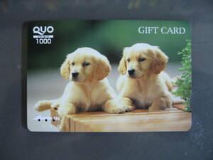 使用済みQUOカード1枚 2匹子犬