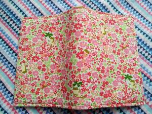 Book Cover Bunko Main Size Frog Floral Handmade