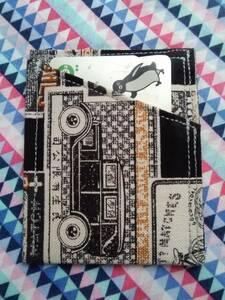 カードケース 定期入れ 昭和レトロ 帆布 マッチ柄 BK 廃盤レア柄 ハンドメイド
