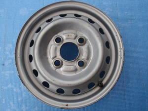 ホンダ 純正 シルバー 鉄チン ・スチールホイール 12×3.50B 約+35(手測り) PCD100 4穴 ハブ径56mm 1本のみ トゥデイ・バモス・N-VAN等に