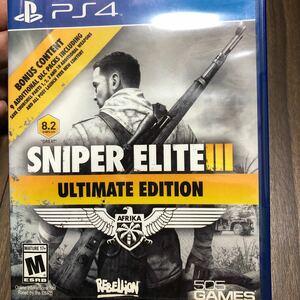 PS4 SNIPER ELITE3 ULTIMATE EDITION スナイパーエリート3 北米版