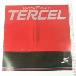 [P020]トヨタ FF ターセル TERCEL 昭和55年3月発行 カタログ /レトロ/当時物/自動車/車/パンフ/パンフレット/自動車カタログ/旧車/