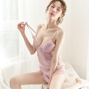 セクシーランジェリー 可愛いレース ベビードール 花柄 ピンク キュート