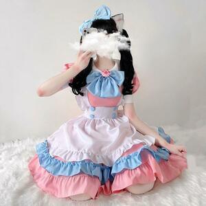 メイド服 メイドコスプレ コスチューム衣装セット 可愛いロリータメイド 衣装