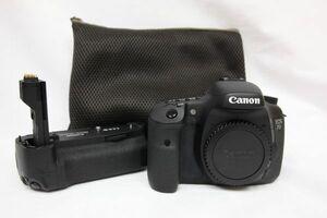 ショット8,156回★Canon キャノン 一眼レフカメラ EOS 7D ボディ バッテリーグリップ BG-E7 210906Y(NT)