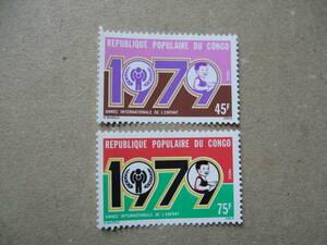 コンゴ人民共和国 1979年 国際児童年 2種完 未使用美品
