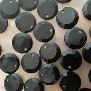 ビーズ アクリル ハンドメイド パーツ ブラック  直径約1.7㎝44個いり