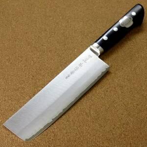 関の刃物 菜切包丁 16.5cm (165mm) 名匠 兼常作 本割込 V金10号 ステンレス 口金付き 家庭用 野菜切り 両刃包丁 大根のかつらむき 日本製