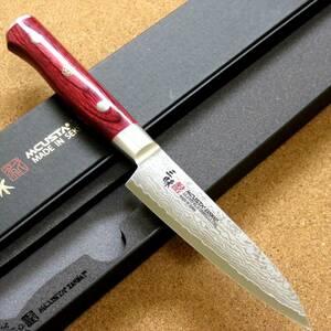 関の刃物 ペティナイフ 11.0cm (110mm) 三昧 クラシック プロ ダマスカス 紅蓮 33層鋼 赤合板 果物包丁 野菜 果物の皮むき 両刃 国産日本製