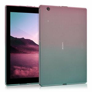 Z4 用 - Tablet Xperia EgT4O Sony S3Isy kwmobile ケース タブレットカバー 透明 青