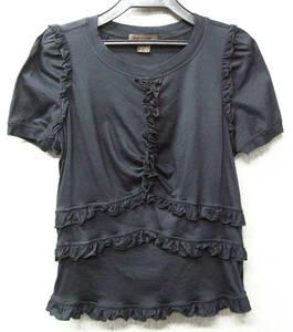 ルイ・ヴィトン LOUIS VUITTON:フリル ストレッチ Tシャツ M ( LOUIS VUITTON Ladies' Stretch Tee M