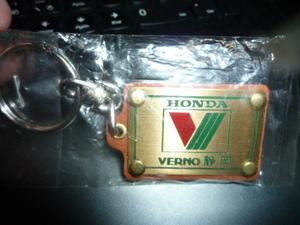 ホンダ ベルノ VERNO キーホルダー キーリング 本田技研 HONDA 当時物 インテグラ NSX CR-X デルソル タイプR 即決 送料無料