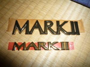 トヨタ マーク2 MARK Ⅱ ゴールドエンブレム 2個セット TOYOTA 未使用 即決 送料無料