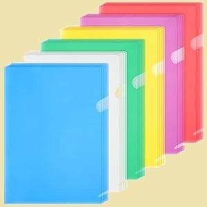ラスト1点 新品 クリアホルダ- ZCZN F-NK 資料収納 書類管理 A4 クリアファイル収納 透明カラ- 30枚 6色セット
