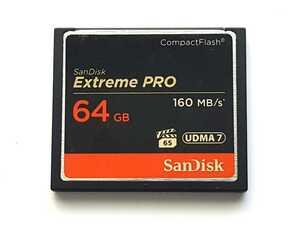 ☆美品☆ CFカード 64GB 1066x サンディスク エクストリームプロ SanDisk Extreme PRO コンパクトフラッシュ CompactFlash Card