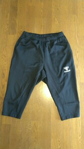 ヒュンメル ジャージ パンツ メンズ トレーニングウェア 3/4パンツ ブラック 吸汗速乾 hummel サッカー ズボン パンツ