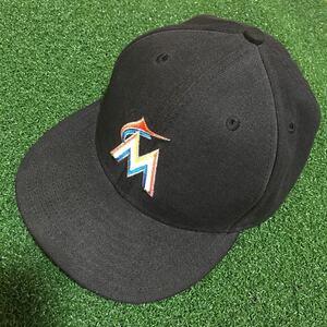 NEW ERA マイアミマーリンズ 53cm オーセンティックコレクション ベースボールキャップ 帽子 ニューエラ 59FIFTY