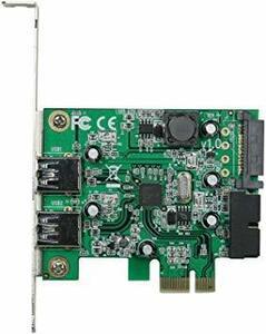 玄人志向 STANDARDシリーズ PCI-Express接続 USB3.0外部2ポート増設カード LowProfile対応 U