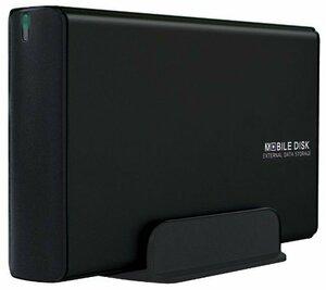 マットブラック USB3.0 玄人志向 HDDケース(マットブラック) 3.5型対応 USB3.0接続 電源連動機能付きで消し忘