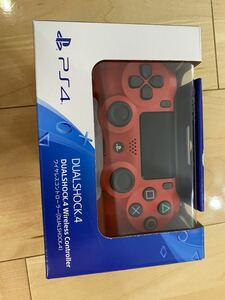 新品未開封 PS4 ワイヤレスコントローラー デュアルショック4 マグマレッド DUALSHOCK4