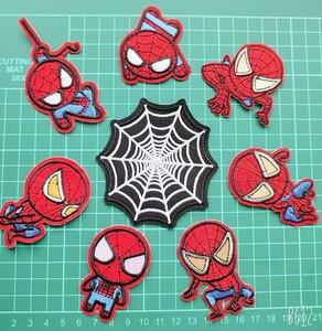 *刺繍アイロンワッペン*スパイダーマン*8枚セット