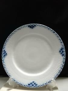 未使用◇自宅保管 ロイヤルコペンハーゲン プリンセス ブルー プレート 25CM 洋食器 中皿 ROYAL COPENHAGEN