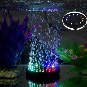 <送料無料> 水槽用ライト 8 アクアリウム エアストーン ミニ気泡ストーン 12LED 酸素補給 水槽装飾 観賞魚 熱帯魚 IP68防水 省エネ