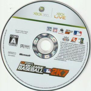 G001 ゲームタイトル:メジャーリーグベースボール 2K7  制作会社: Spike 2K Sports 同梱可