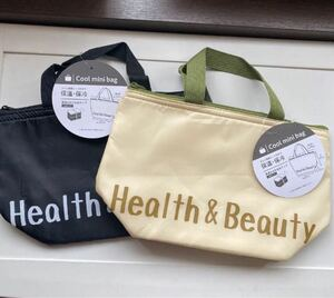保冷バッグ エコバッグ Health&Beauty ブラック ベージュ