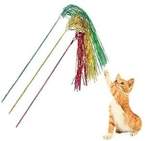 猫じゃらし 猫 おもちゃ じゃれ猫 釣竿じゃらし 釣り竿 カシャカシャ ぶんぶん 鈴付き 3本セット
