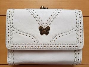 ANNA SUI アーバン 財布 折り財布  がま口 アナスイ 白 花柄