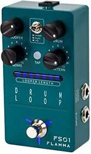 FLAMMA FS01 ドラム マシン と フレーズ ループ ペダル ミックス モード 20分 ルーパー 容量 121 リズムD