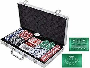 ブラック 【LR.store】 カジノセット カジノゲーム 「アルミケース入り (黒) チップ300枚」 ポーカーセット 大人