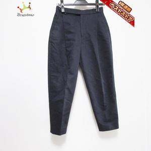 ドゥロワー Drawer パンツ サイズ34 S - ネイビー レディース クロップド(半端丈) ボトムス