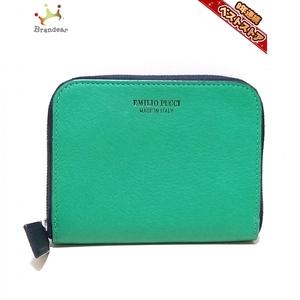 エミリオプッチ EMILIO PUCCI コインケース - レザー グリーン 財布