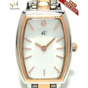 4℃(ヨンドシー) 腕時計 - レディース 40th Aniversary ホワイトシェル