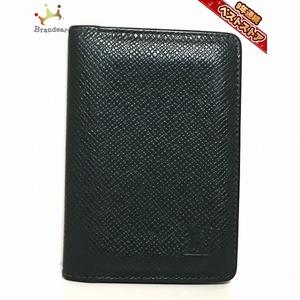 ルイヴィトン LOUIS VUITTON カードケース M30514 オーガナイザードゥポッシュ タイガ・レザー(LVロゴの刻印入り) エピセア MI0967 財布