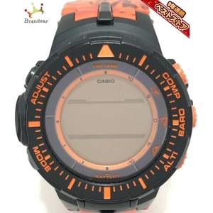 CASIO(カシオ) 腕時計 PRO TREK PRG-300 メンズ 電波 オレンジ×黒