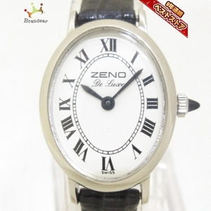 zeno watch(ゼノウォッチ) 腕時計 - レディース 型押し加工/Rosemont 白