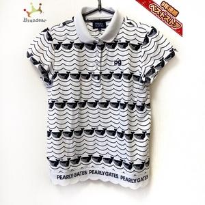 パーリーゲイツ PEARLY GATES 半袖ポロシャツ サイズ1 S - 白×黒 レディース クジラ トップス