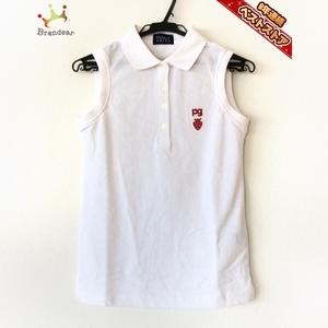 パーリーゲイツ PEARLY GATES ノースリーブポロシャツ サイズ00 XS - 白 レディース 美品 トップス