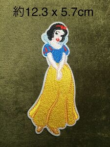 アイロンワッペン 白雪姫 ワッペン アイロン 接着 ディズニー プリンセス 刺繍