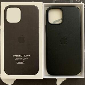 iPhone12/12pro Magsafe対応 レザーケース カバー ブラック
