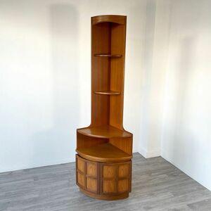コーナーキャビネット チーク材 アンティーク 家具 木製 イギリス 英国 シェルフ ビンテージ家具 北欧家具 店舗什器 850A