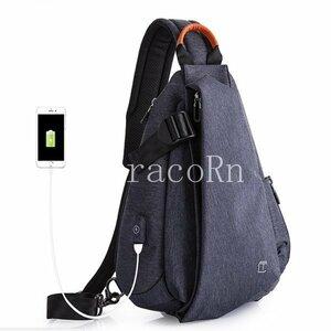 新品ボディバッグ メンズ レディース ワンショルダー おしゃれ カバン かばん軽量 鞄 斜めがけ USB充電ポート アウトドア 男女兼用 バ