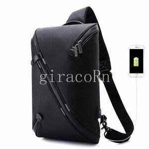 新品ボディバッグ メンズ レディース ワンショルダー おしゃれ カバン かばん 鞄 軽量 斜めがけ USB充電ポート アウトドア 男女兼用