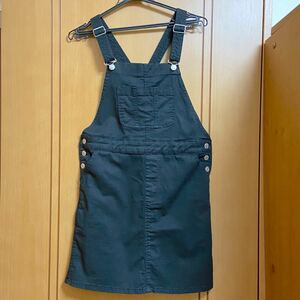サロペットスカート デニムスカート ジャンパースカートオーバーオール オーバーオールスカート