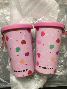 スターバックス タンブラー ステンレスカップ シリコン蓋 バレンタイン アニバーサリー ボトル ステンレスマグ ハート 水筒