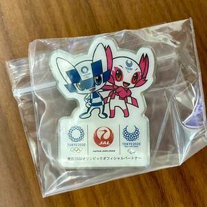 JAL 東京オリンピック記念ピンバッジ ピンバッチ ピンズ TOKYO2020 東京五輪 日本航空 ミライトワ ソメイティ